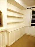 Haringey fitted made to measure floating shelves