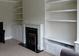 Bloomsbury-WC1 Fitted Victorian Alcove Cabinets