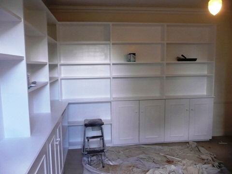 home office library and shelving installations